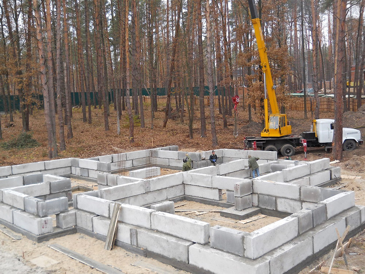 блоки под строительство дома